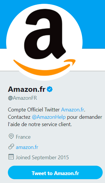 Screen amazon fr compte twitter