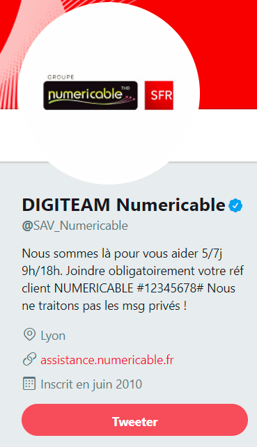 screen compte twitter numericable