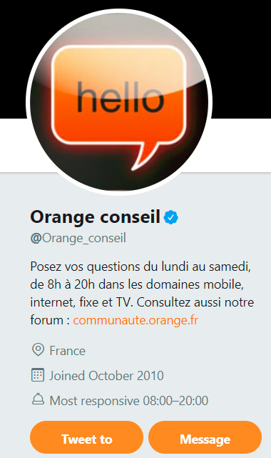 screen orange conseil compte twitter