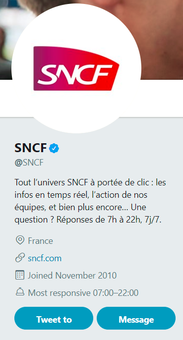 screen compte twitter sncf