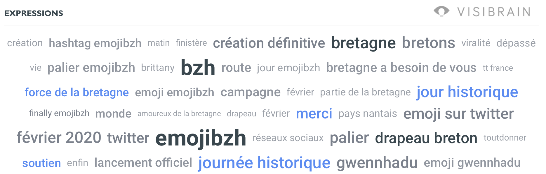 Top expressions #EmojiBZH